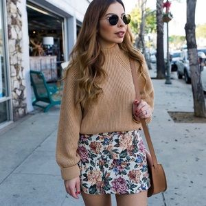 Zara | Floral Tapestry Mini Skirt